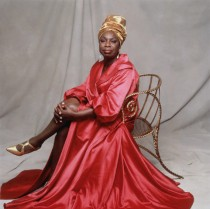 ca. 1994 --- Nina Simone in Pink Dress and Gold Turban --- Image by © Carol Friedman/Corbis